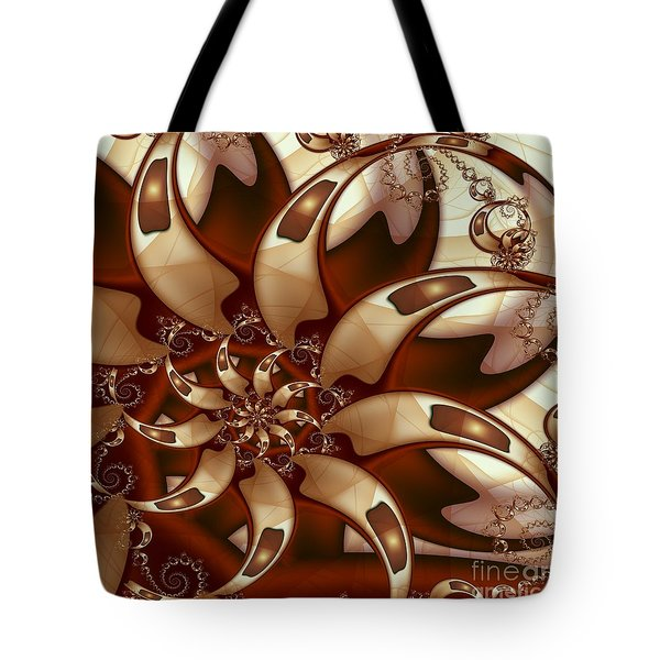 Tote Bag featuring the digital art Curl Around by Michelle H