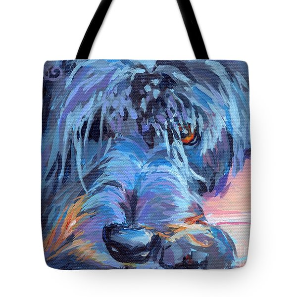 Curl Tote Bag by Kimberly Santini