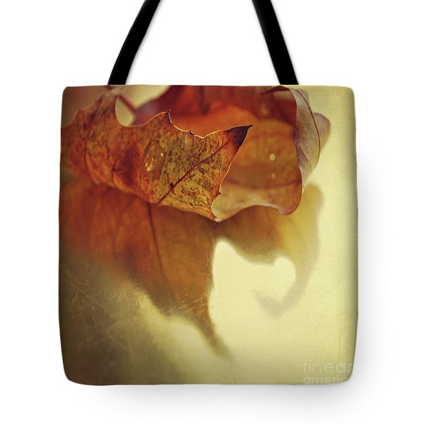 Curled Autumn Leaf Tote Bag by Lyn Randle