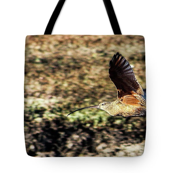 Curlew In Flight Tote Bag