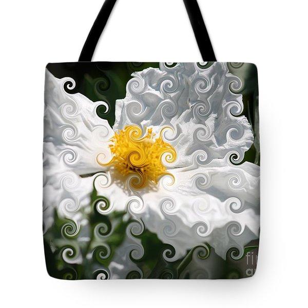 Curlicue Fantasy Bloom Tote Bag