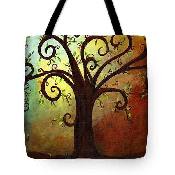 Curly Branches Tree Tote Bag by Elaine Hodges