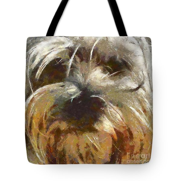 Tote Bag featuring the painting Curly by Dragica  Micki Fortuna