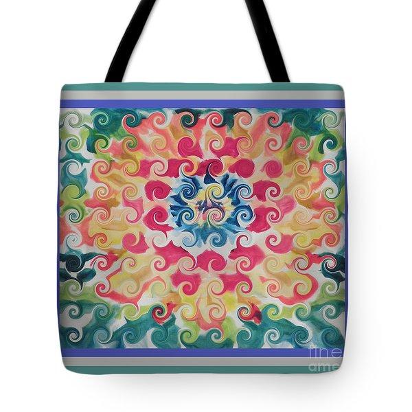 Curly Floral Bloom Tote Bag