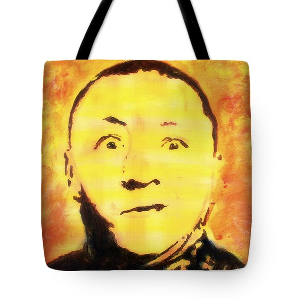 Curly Howard Three Stooges Pop Art Tote Bag by Bob Baker