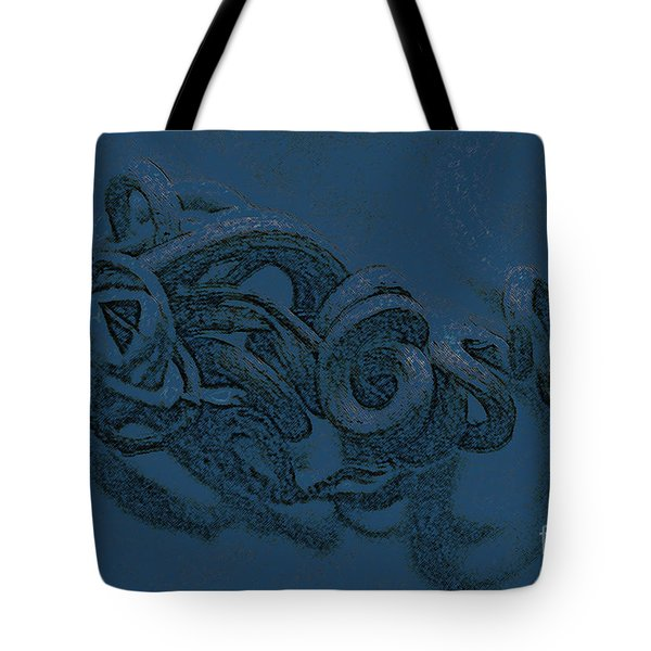 Tote Bag featuring the digital art Curly Swirly by Kim Henderson
