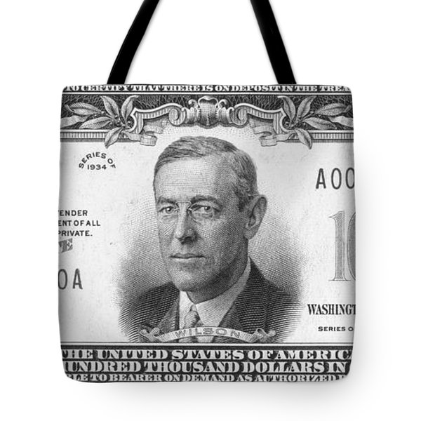 Currency: 100,000 Dollar Bill Tote Bag