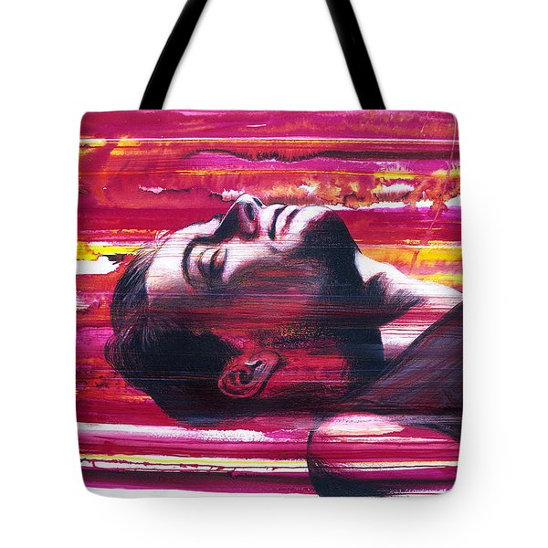 Tote Bag featuring the painting Currents by Rene Capone
