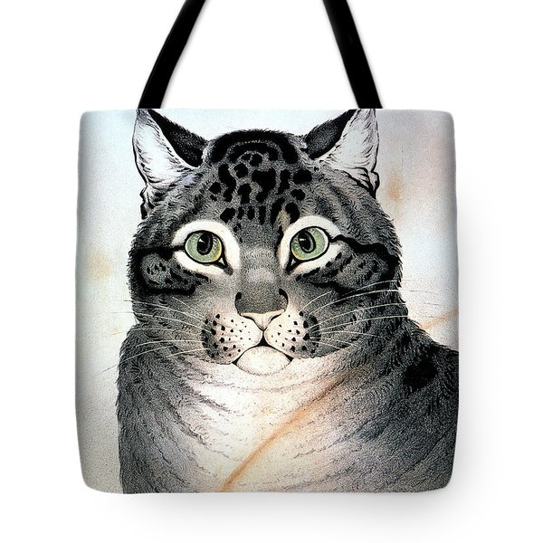 Currier And Ives Cat Tote Bag by Granger
