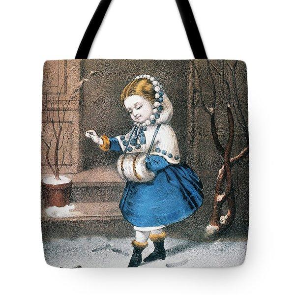 Currier & Ives: Little Snowbird Tote Bag