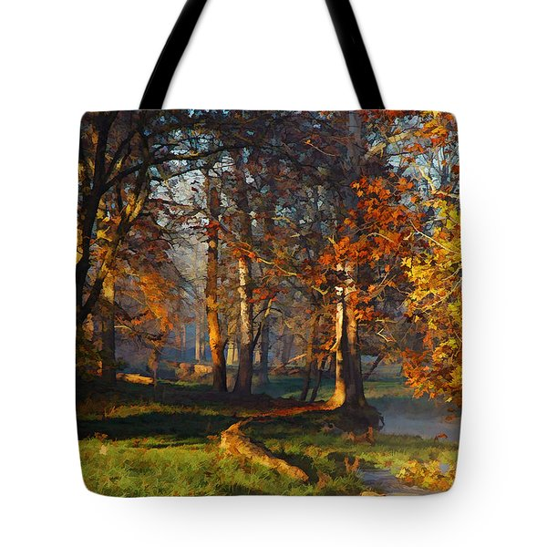 Curry Stream Fall Tote Bag