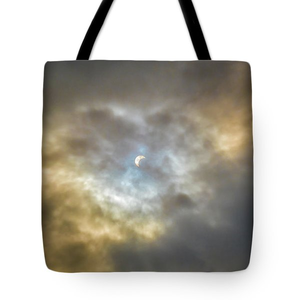 Curtain Of Clouds Eclipse Tote Bag