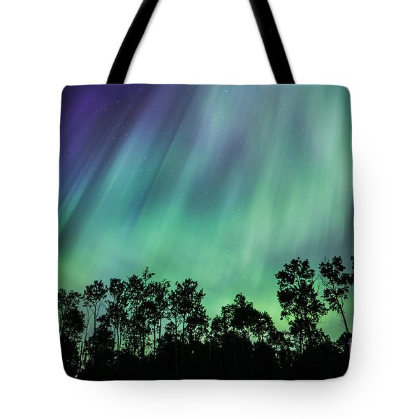 Curtain Of Lights Tote Bag