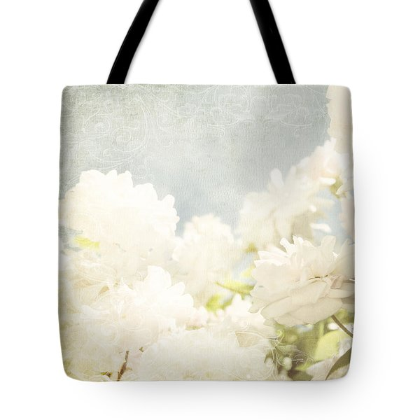 Curtains And Fountains Of Roses Tote Bag