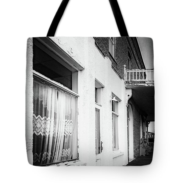 Tote Bag featuring the photograph Curtains by Cat Connor