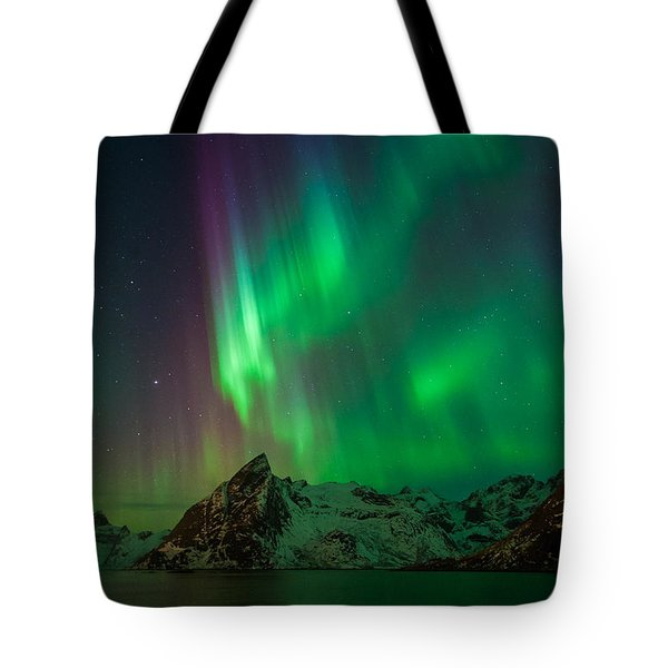 Curtains Of Light Tote Bag