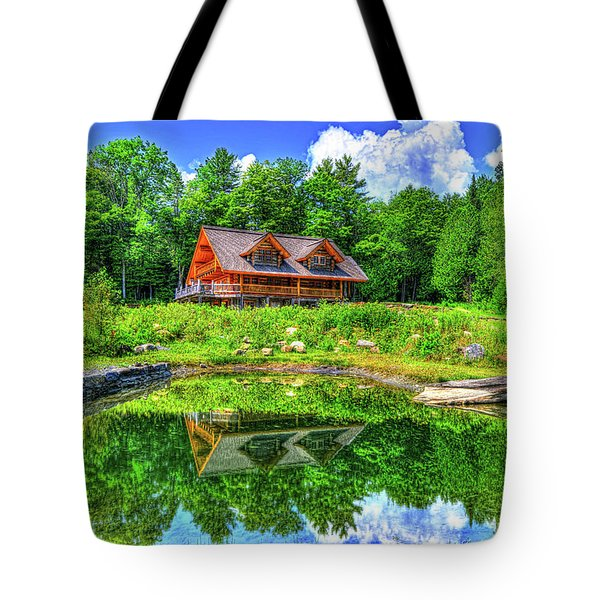 Tote Bag featuring the photograph Curtis Vance Memorial Apple Orchard by Jim Boardman