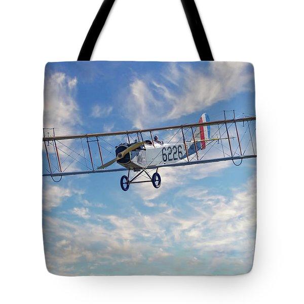 Curtiss Jn-4h Biplane Tote Bag