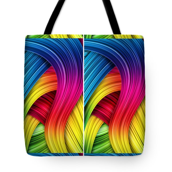 Curved Abstract Tote Bag