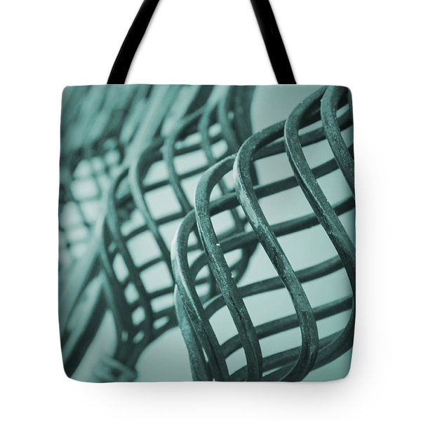 Curved Iron Fence Tote Bag