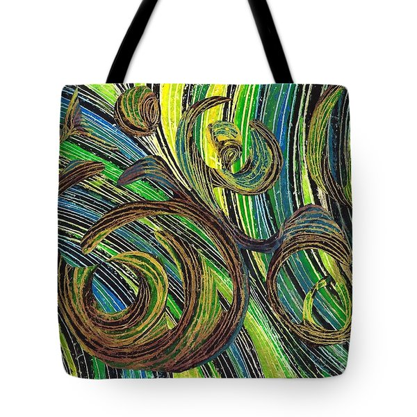 Curved Lines 4 Tote Bag by Sarah Loft