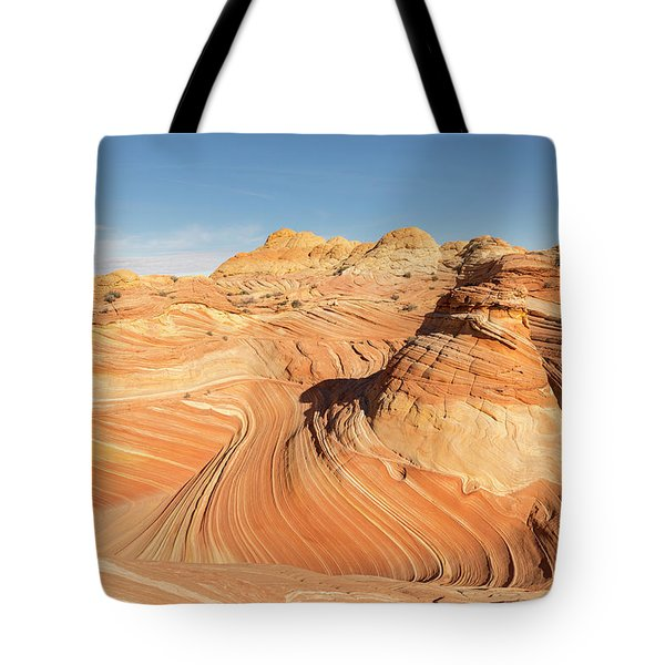 Curves Into Waves Tote Bag by Tim Grams