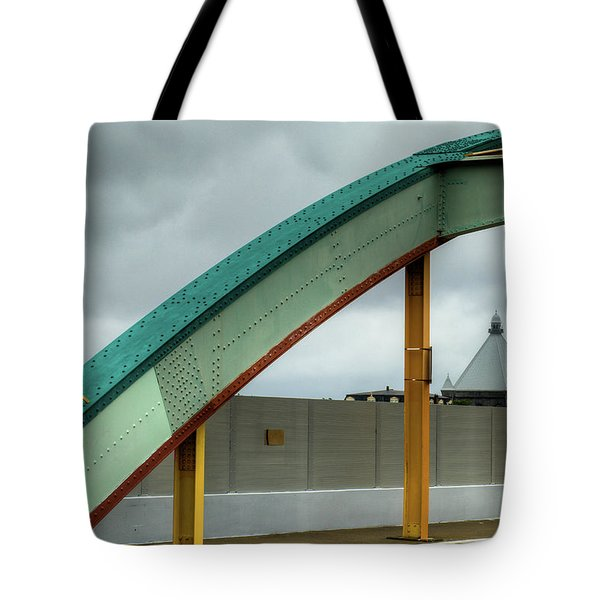 Tote Bag featuring the photograph Curving Bridge by Dennis Dame