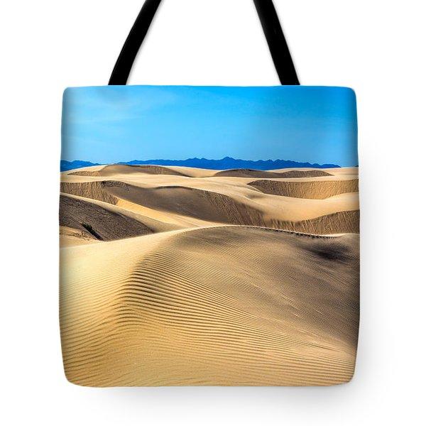 Curving Dunes Tote Bag