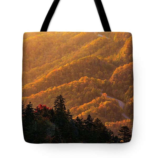 Smoky Mountain Roads Tote Bag