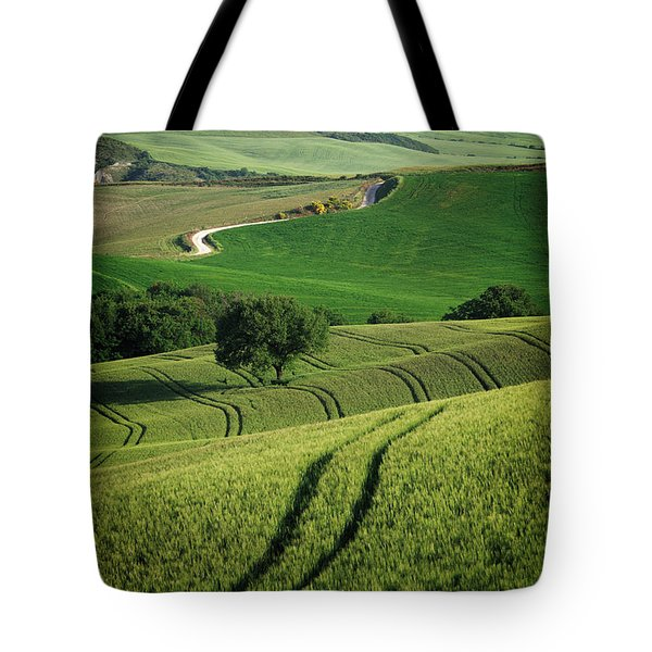 Tote Bag featuring the photograph Curvy Lines In Tuscany by IPics Photography