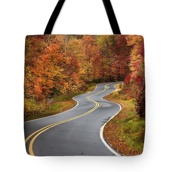 Curvy Road In The Mountains Tote Bag