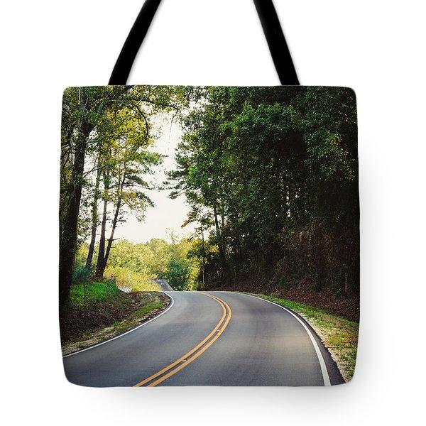 Curvy Road Tote Bag