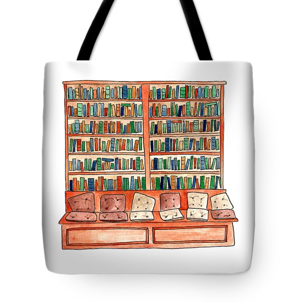 Cushions Room Of Shakespeare And Company Tote Bag