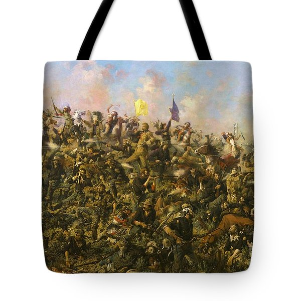 Custer's Last Stand Tote Bag by Pg Reproductions