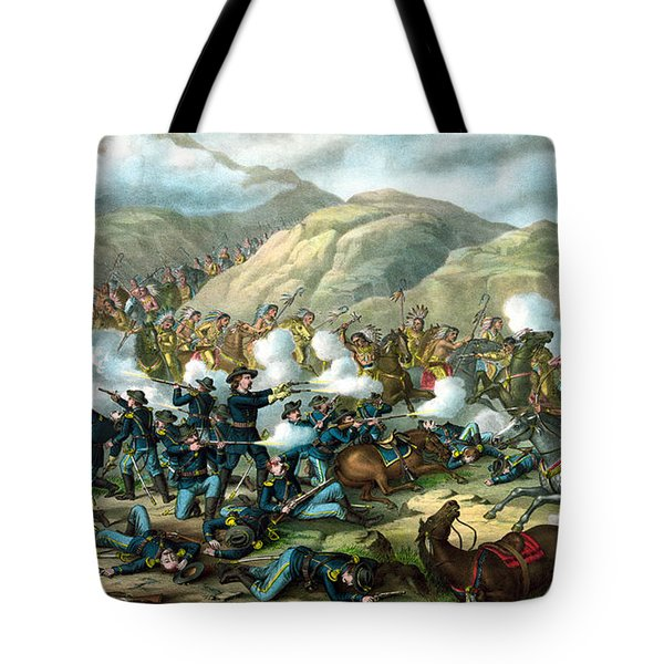 Custer's Last Stand Tote Bag by War Is Hell Store
