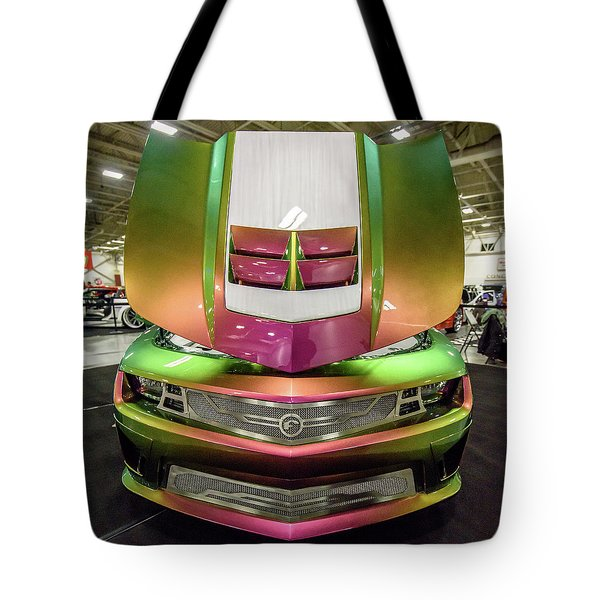 Tote Bag featuring the photograph Custom Camaro by Randy Scherkenbach