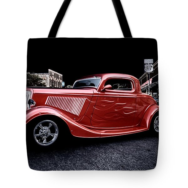 Custom Car On Street Tote Bag