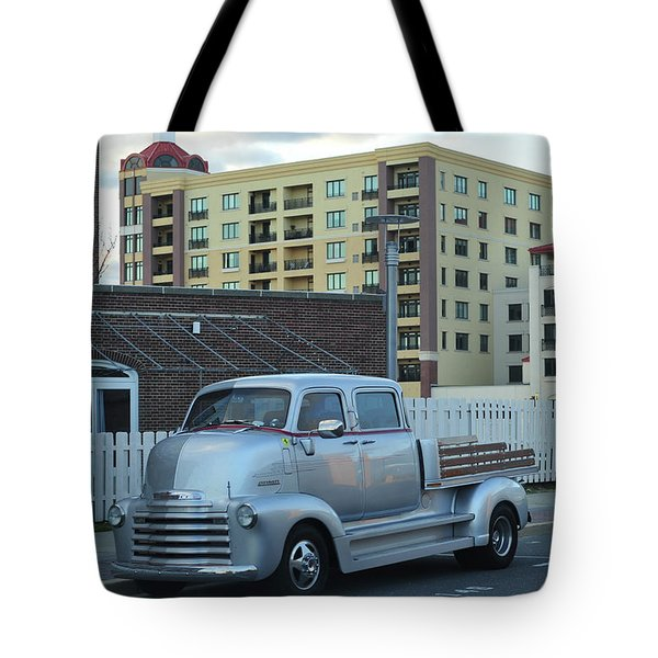 Tote Bag featuring the photograph Custom Chevy Asbury Park Nj by Terry DeLuco