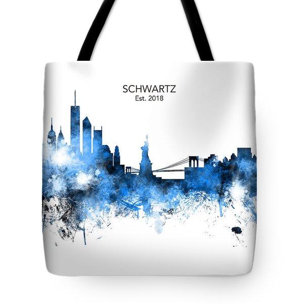 Custom New York Skyline Tote Bag