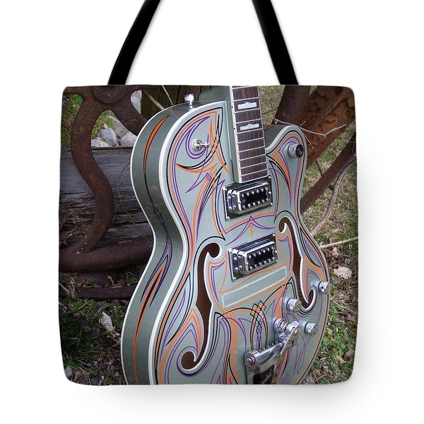 Custom Painted Giutar Tote Bag