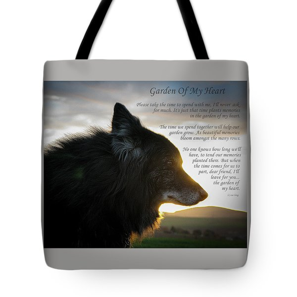 Custom Paw Print Garden Of My Heart Tote Bag
