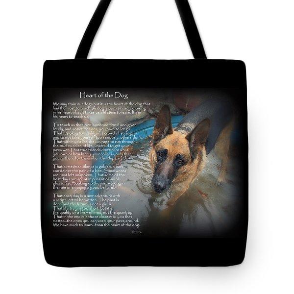 Custom Paw Print Maxx Heart Of The Dog Tote Bag