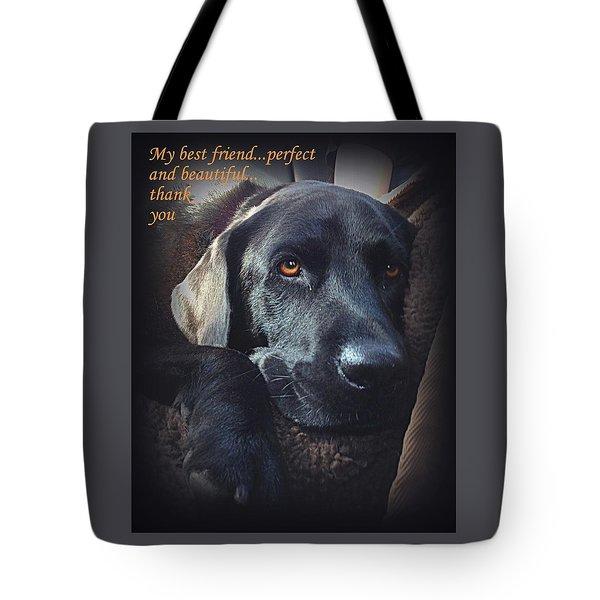 Custom Paw Print Midnight My Best Friend Tote Bag
