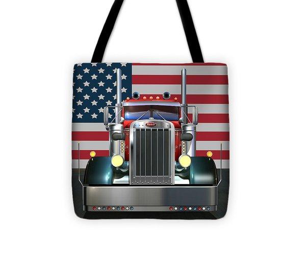 Custom Peterbilt 2 Tote Bag by Stuart Swartz