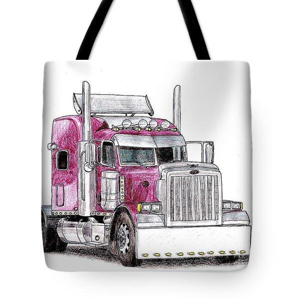 Custom Peterbilt Truck Cab Tote Bag by Dan Poll