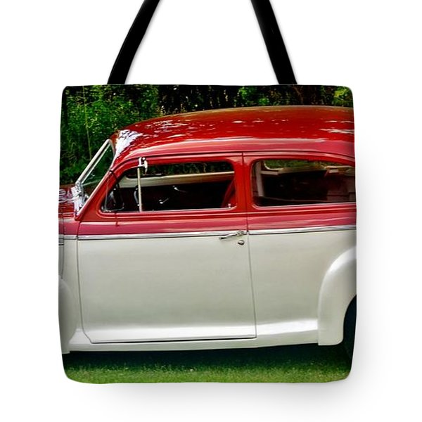 Customized Forty One Chevy Hot Rod Tote Bag by Marsha Heiken