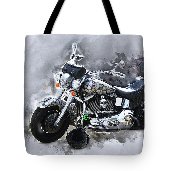 Customized Harley Davidson Tote Bag
