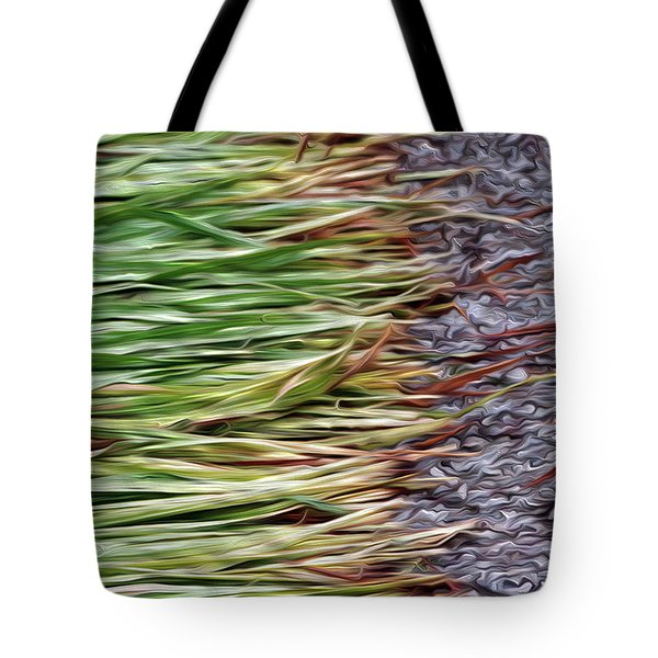 Cut Grass And Pebbles Tote Bag
