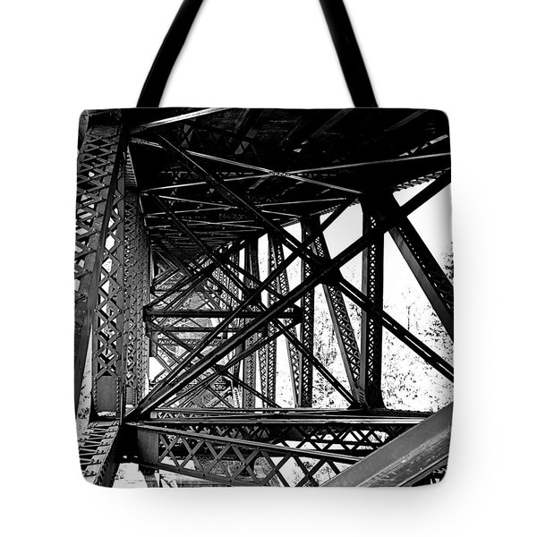 Tote Bag featuring the photograph Cut River Bridge by SimplyCMB