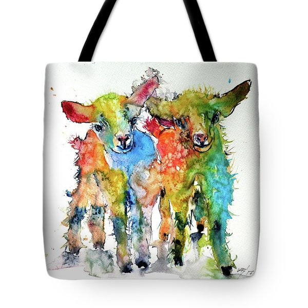 Cute Baby Goats Tote Bag